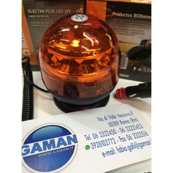 EU9201 LAMPADA ROTANTE A LED 12-24V OMOLOGATA BASE MAGNETICA
