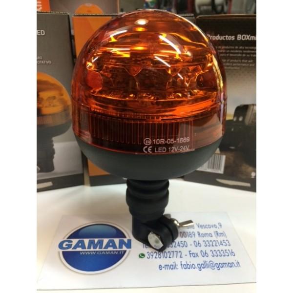 EU9202 LAMPADA ROTANTE A LED 12-24V INNESTO PIANTONE