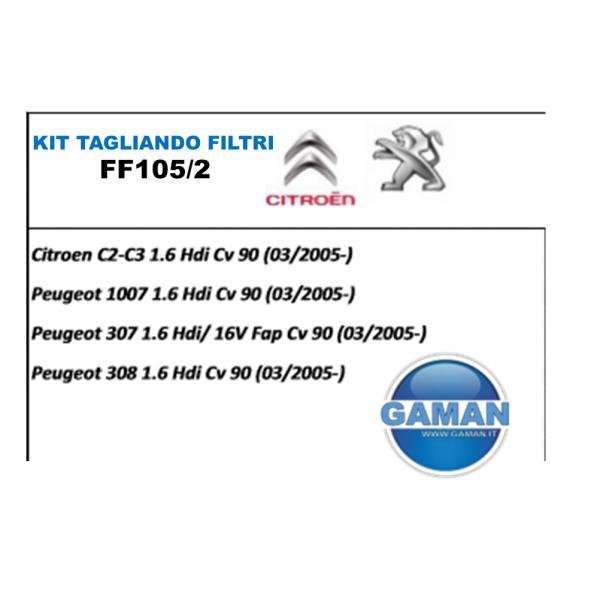 KIT FILTRI TAGLIANDO CITROEN/PEUGEOT