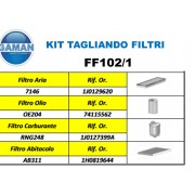 KIT FILTRI  VOLKSWAGEN GOLF IV1.9 TDI