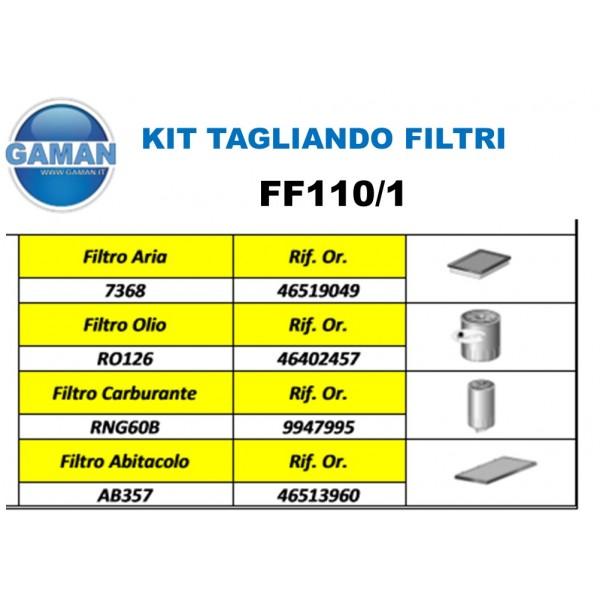 KIT FILTRI TAGLIANDO  FIAT MULTIPLA 1.9 JTD
