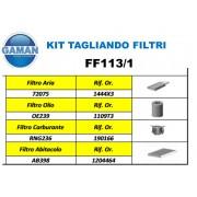 KIT FILTRI TAGLIANDO  FORD FIESTA V 1.4 TDCI