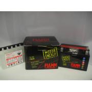FTX9-BS BATTERIA MOTO FIAMM PIAGGIO ENERGY AGM YUASA YTX9-BS 12V 8Ah + LIQUIDO