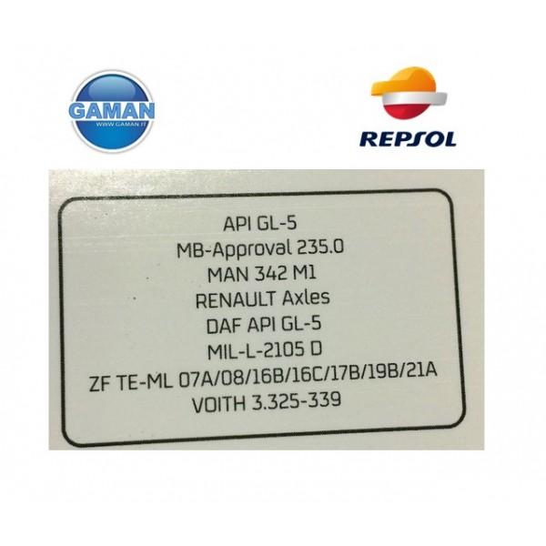 80W90 GL 5 OLIO CAMBIO E  TRASMISSIONE  REPSOL LT.5