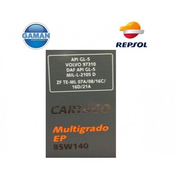 85W140 OLIO TRASMISSIONE CAMBIO GL.5  LT REPSOL