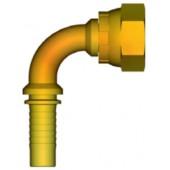 """INSERTO 90° A PRESSARE TUBO 3/8"""" FEMMINA 1/4"""" - GAS"""