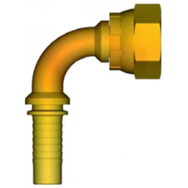 """INSERTO 90° A PRESSARE TUBO 1/4"""" FEMMINA 1/4"""" - GAS"""